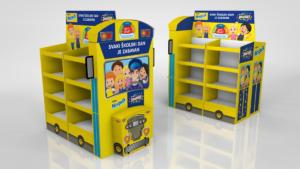 Nesquick bus  pallet display